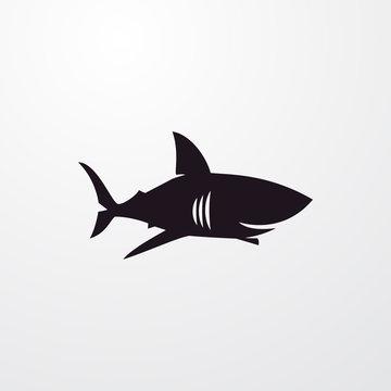 shark icon illustration
