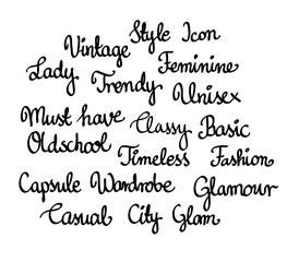 Tag cloud for fashion blogger