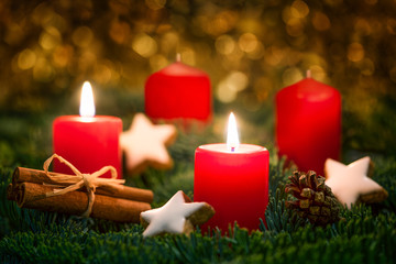 2 advent kerzen