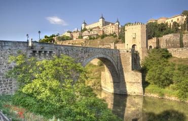 Alcantara Bridge in Toledo, Spain