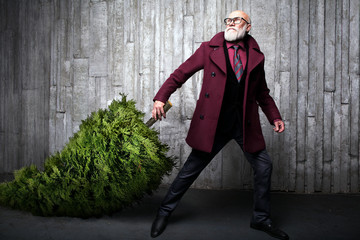 fashionable modern Santa fashion concept