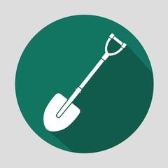 shovel vector icon. eps10. flat style. shovel equipment