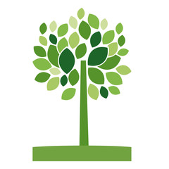 Tree with leaves icon. Plant nature environment spring and garden theme. Vector illustration