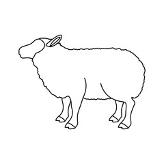 Lamb icon. Livestock animal life nature and fauna theme. Vector illustration