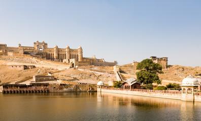 Poster de jardin Fortification Amer fort, Rajasthan