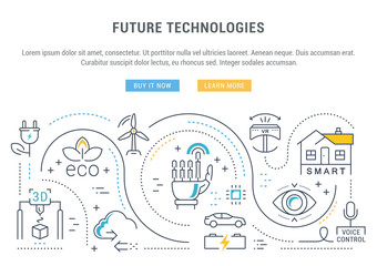 Website Banner and Landing Page Future Technologies