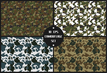 vector camouflage set