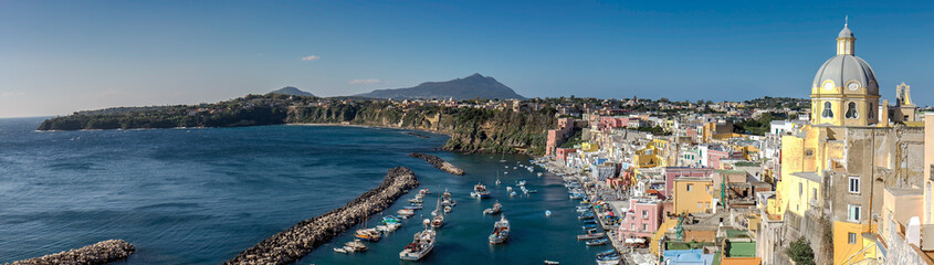 Photo sur Plexiglas Naples Corricella Village, Island of Procida, Naples, Italy