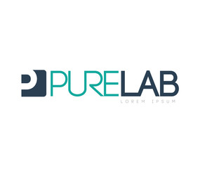 Pure Lab Concept  Logo Design
