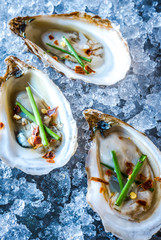 Beau Soleil Oysters with Chives and Red Pepper Flakes