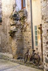 Bicycle on narrow street