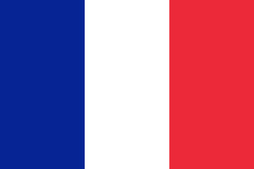 Official vector flag of France . French Republic .