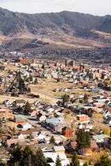 High Angle Overlook Walkerville Montana Downtown USA United Stat