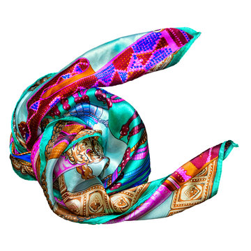 Silk scarf on a black background