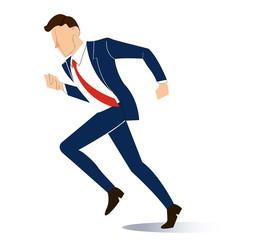 running businessman vector illustration