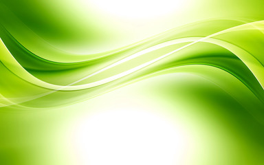 Category & Abstract background powerful effect lighting. Green blurred color ...