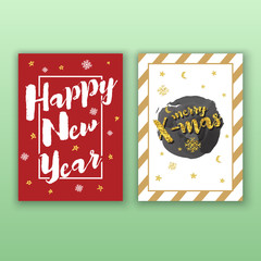 Party poster template with glitter decoration for Christmas and happy new year 2017..Vertical Christmas greeting card template for print. Vector illustration