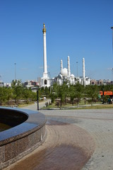 Wall Murals View in Astana, capital of Kazakhstan