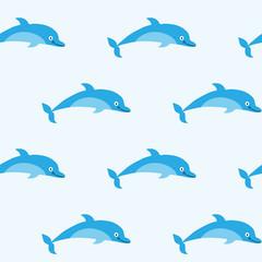 Foto op Plexiglas Dolfijnen Seamless pattern with pretty good dolphins