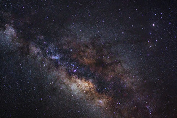 Close-up of Milky way galaxy with stars and space dust in the un