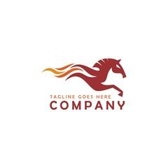 Horse Fire Logo