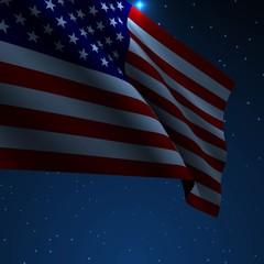 USA American flag vector illustration