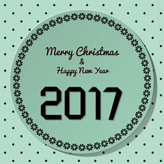 Origami 2017 symbol on petrol background with polka dots