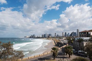 Mediterranean sea at Tel Aviv, Israel.