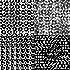 Black set cubic patterns of geometric squares