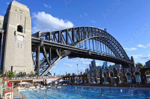 eople swim in North Sydney Olympic Pool Sydney New South Wales A