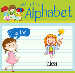 Flashcard letter I is for idea