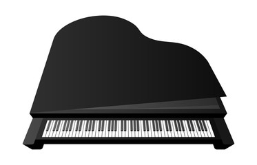 piano on a white background, musical instrument, vector