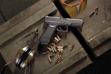 Pistolet Glock.