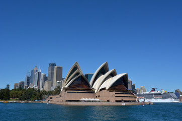 Panoramic view of Sydney skyline