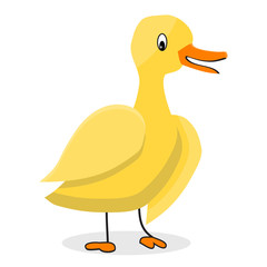 Cartoon yellow duck