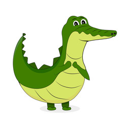 Cute crocodile character