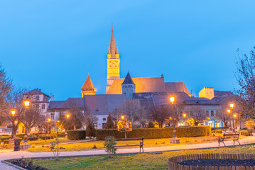 Wall Mural - Medieval town and fortified church of Medias,  landmark in Transylvania,  Romania.