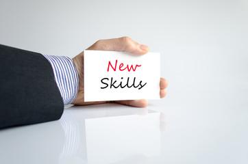 New skills text concept