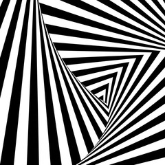 pattern of black and white lines. Optical illusion. Vector illustration. As background, picture, wallpaper
