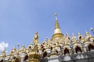 Buddhist architecture Wat Manee Praison Temple in Mae Sot, Tak, Thailand