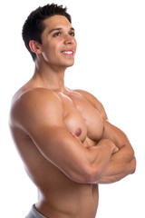 Bodybuilder Bodybuilding Muskeln Body Building Mann stark muskul