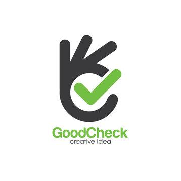 Creative Check and OK Logo Concept Design Template