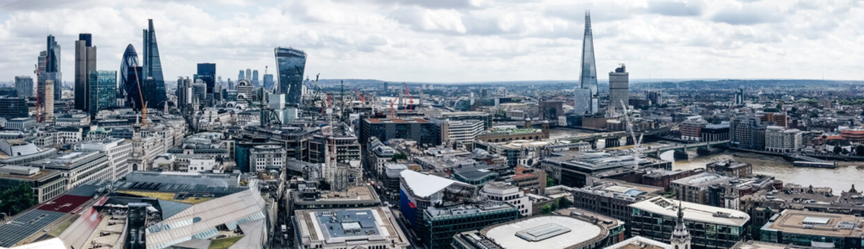 London cityscape aerial view