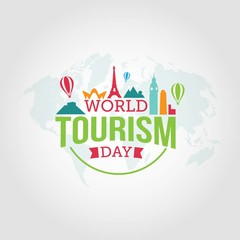 World Tourism Day vector illustration.