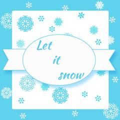 Vector postcard Let it snow!