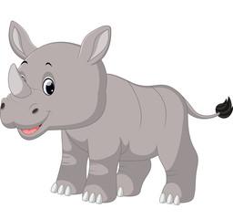 Cute baby rhino sitting