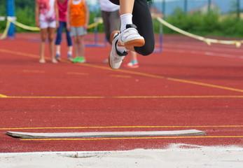 Weitsprung Leichtathletik Wettkampf