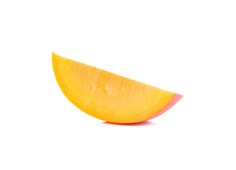 Ripe mango isolated on the white background