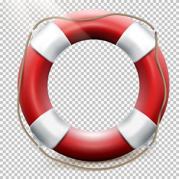 Life buoy isolated on transparent. EPS 10
