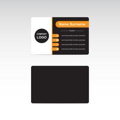 vector black business card design